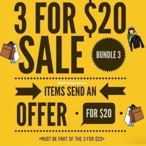 Items must be part of the 3 for $20